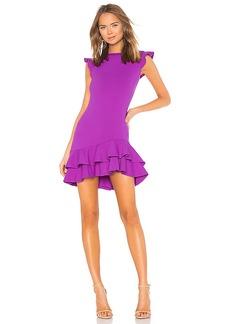 Susana Monaco Sleeveless Ruffle Hem Dress