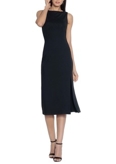 Susana Monaco Sleeveless Slit Midi Sheath Dress