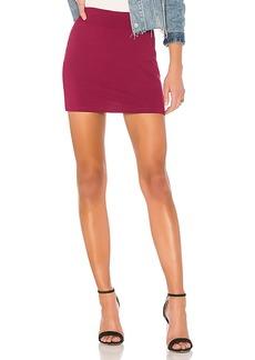 Susana Monaco Slim Skirt in Wine. - size L (also in S,XS)