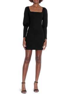 Susana Monaco Square Neck Long Sleeve Minidress