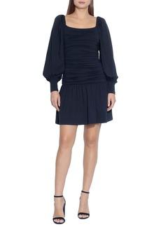 Susana Monaco Square Neck Long Sleeve Minidress