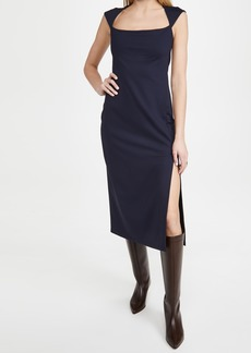 Susana Monaco Square Neck Slit Dress