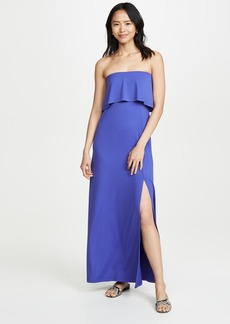 Susana Monaco Strapless Overlay Slit Dress