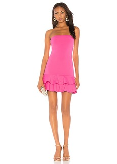 Susana Monaco Strapless Ruffle Dress