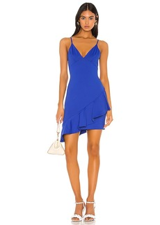 Susana Monaco Thin Strap Wrap Ruffle Dress