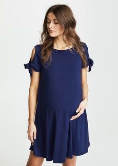 Susana Monaco Tie Sleeve Flare Dress