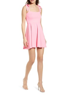 Susana Monaco Tie Strap Sleeveless Minidress