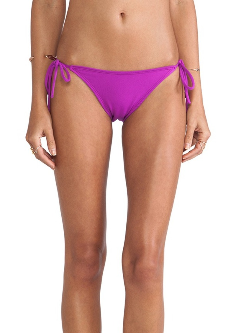 Susana Monaco Tie String Bikini Bottom in Purple