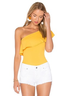 Susana Monaco Tina Bodysuit in Yellow. - size L (also in M,S)