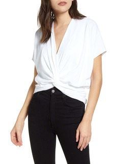Susana Monaco Twist Front Short Sleeve Top