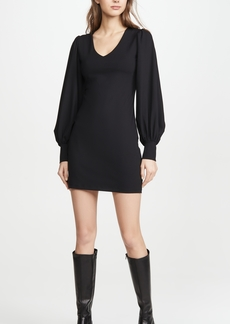 Susana Monaco V Neck Gathered Sleeve Dress