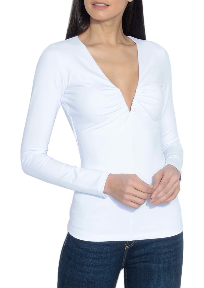 Susana Monaco V-Neck Long Sleeve Top