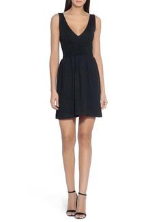 Susana Monaco V-Neck Smocked Sleeveless Dress