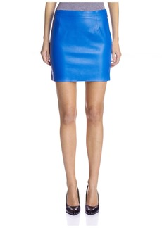 Susana Monaco Women's Blair Leather Mini Skirt   US