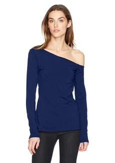 Susana Monaco Women's Brooke One Shoulder Long Sleeve Top  XL