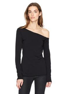 Susana Monaco Women's Brooke One Shoulder Long Sleeve Top  XL