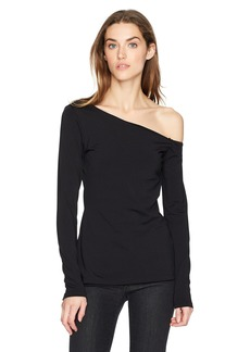 Susana Monaco Women's Brooke One Shoulder Long Sleeve Top  XS