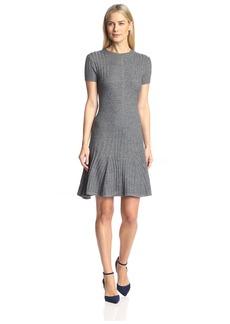 Susana Monaco Women's Chantal Sweater Flare Dress  L