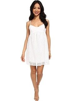Susana Monaco Women's Circle Embroidery String Eyelet 18 Inch Dress Sugar