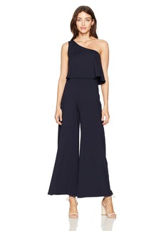 "Susana Monaco Women's Ilana One Shouldered Jumpsuit 30"" Inseam  XL"