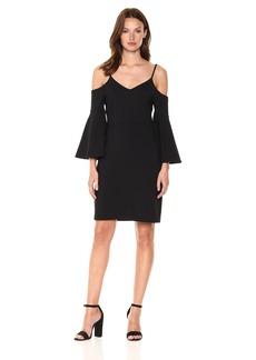 Susana Monaco Women's Jemma Bell Sleeve Dress  L
