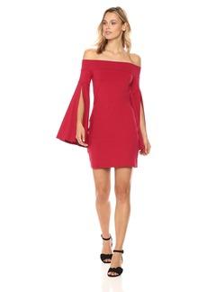 Susana Monaco Women's Kaelea Off The Shoulder Long Sleeved Dress  M