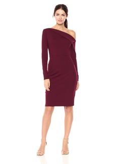 Susana Monaco Women's Leila One Shoulded Long Sleeve Dress  S