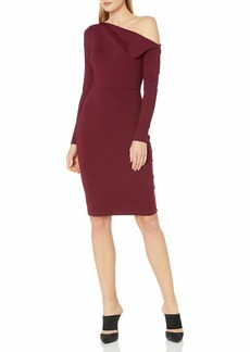 Susana Monaco Women's Leila One Shoulded Long Sleeve Dress  XL