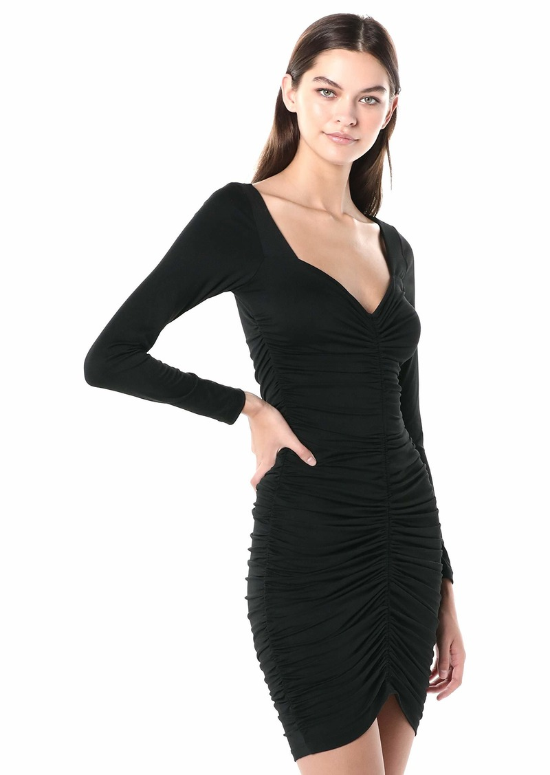 Susana Monaco Women's Long Sleeve Cinched Front Dress