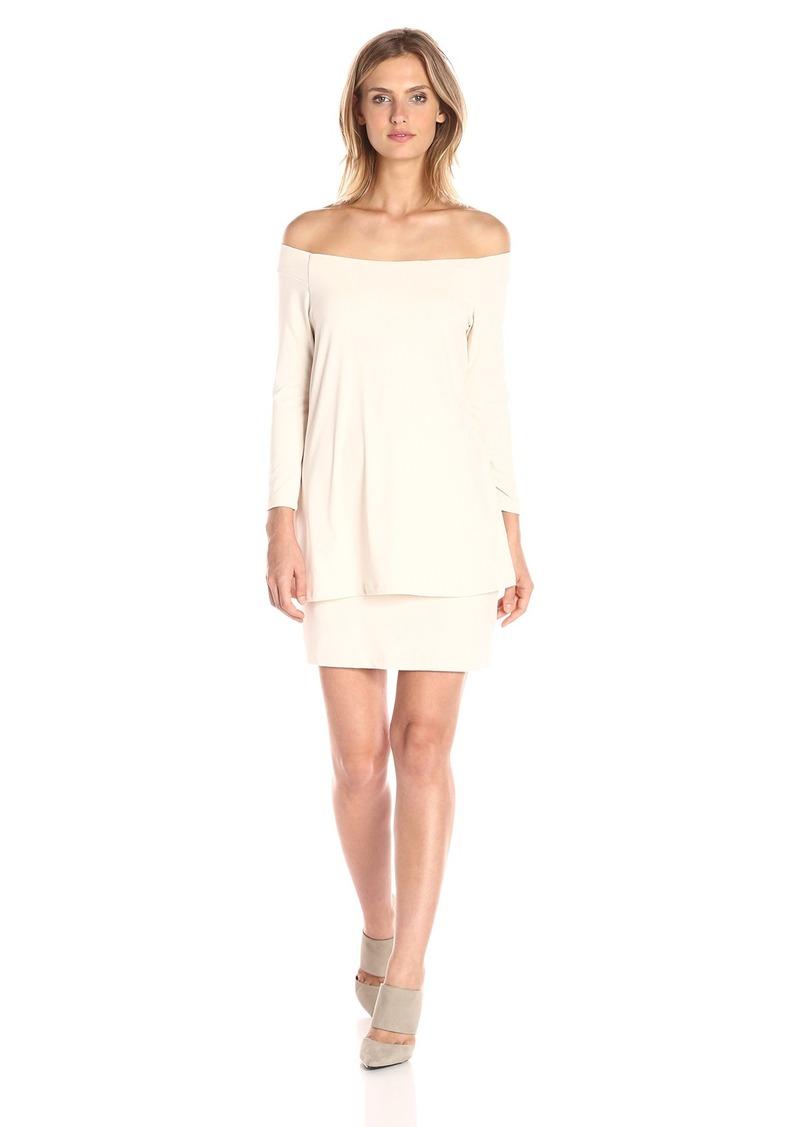 Susana Monaco Women's Off Shoulder Layer Dress  M