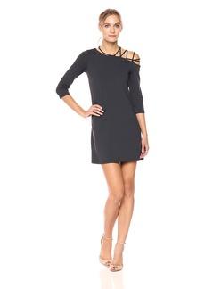 Susana Monaco Women's Rosie Laced Shoulder Dress  M