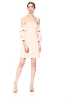 Susana Monaco Women's Ruffle Sleeve A-LINE Dress  S