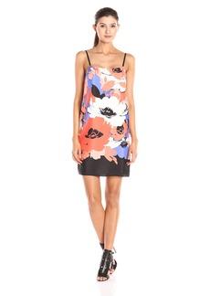 Susana Monaco Women's Slip Dress Poppy Print