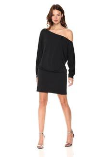 Susana Monaco Women's Zoey One Shoulder Long Sleeve Dress  S