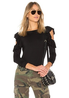 Susana Monaco Zoey Top in Black. - size L (also in S,XS)