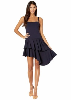 Susana Monaco Thin Strap Cascade Ruffle Dress