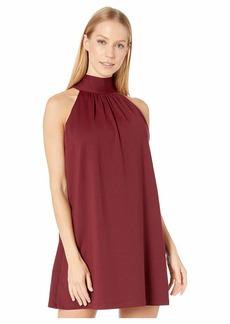 Susana Monaco Tie Neck Flare Dress