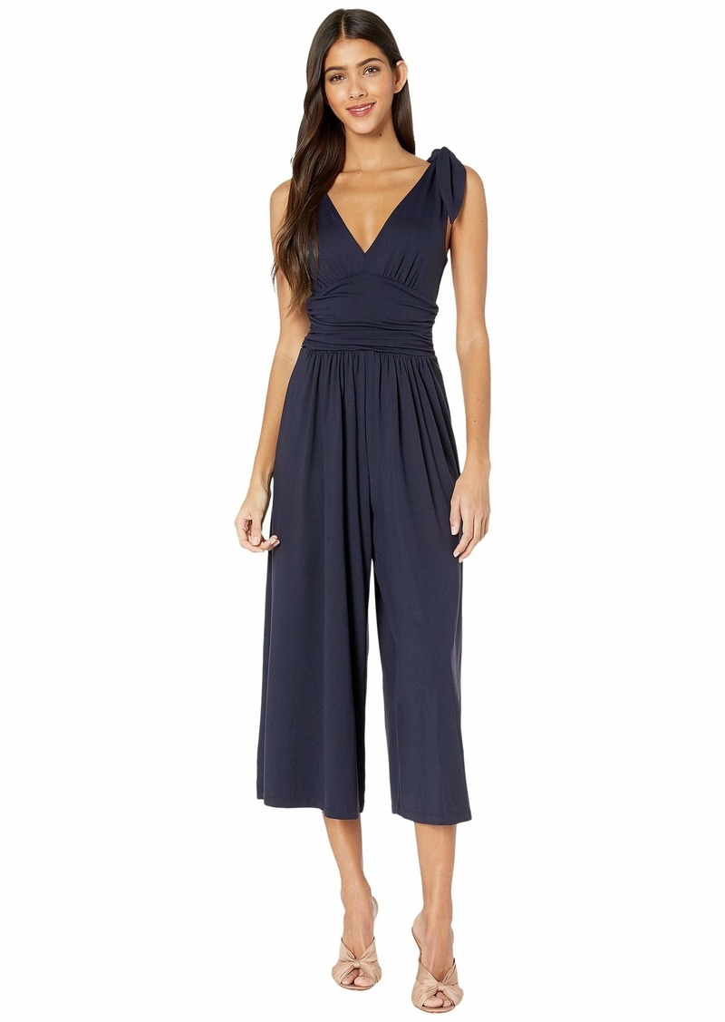 Susana Monaco Tie Shoulder Ruched Jumpsuit