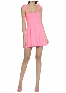 Susana Monaco Tie Strap Flare Dress