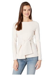 Susana Monaco Tie Waist Long Sleeve Top