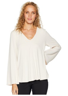 Susana Monaco V-Neck Flared Sleeve Top