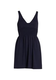 Susana Monaco V-neck Smock Waist Dress
