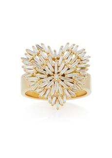 Suzanne Kalan - Women's 18K Yellow-Gold and White Diamond Heart Ring - Yellow - Moda Operandi