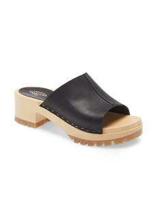 Swedish Hasbeens Ann Platform Slide Sandal (Women)