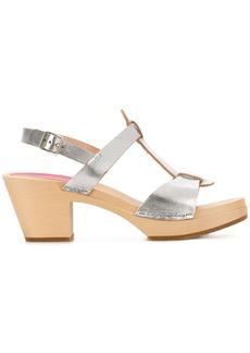 Swedish Hasbeens Greek sandals - Metallic