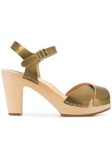 Swedish Hasbeens Merci sandals - Metallic