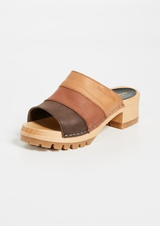 Swedish Hasbeens Mona Colorblock Sandals