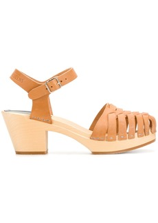 Swedish Hasbeens Snake sandals - Brown
