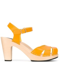 Swedish Hasbeens Suzanne sandals - Yellow & Orange