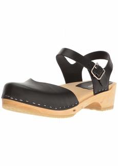swedish hasbeens Women's Covered Low Flat Sandal  3 EU/ M US